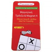 TO GO Magnetic Travel Games '4 In A Row & Tic Tac Toe'
