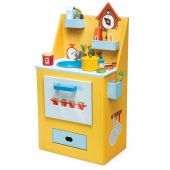 Kitchen playset - printed cardboard and wooden accessories Saffron Chef Kitchen Playset