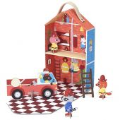Fire Station Travel Playset - printed cardboard Captain Furry's Fire Station