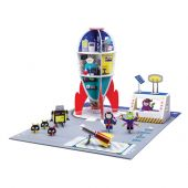 Krooom Galactic Police Space station with figures, accessories and mat