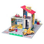 Krooom Willson bros Garage playset with accessories and mat