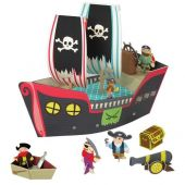 Krooom Pirate ship playset with figures and accessories