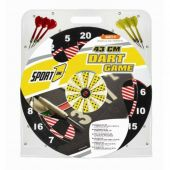 Sport1 Darts target diameter 43 cm complete with two sets of three arrows
