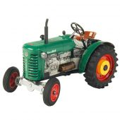Windup metal tractor
