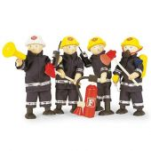 Fire fighters and accessory set of 4