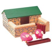 Pintoy doll house set pigs