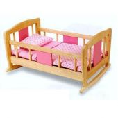 Pintoy doll rocking bed
