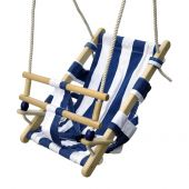 Swing chair baby safe blue