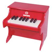 Svoora Children's Red Wooden Piano (18 keys)