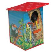 Collector tin Woodpecker bank