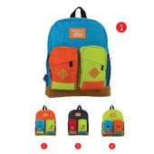 School backpack made of cotton and fabric