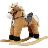 Tan Corduroy Rocking Horse