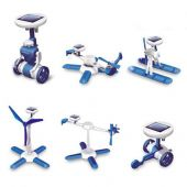Solar Six in one (blue robot,helicopter,airboat,windwill, plane,wheeler)