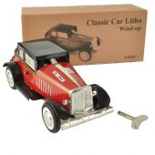 Collector tin Racer 'Classic Car Litho Maroon'