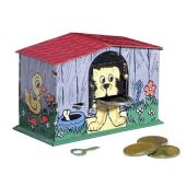Collector tin Dog bank money