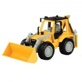 B. Driven Backhoe Loader, Mid-Sized with sounds