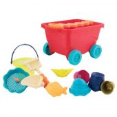 B.Toys Travel Beach Wagon, Translucent Red