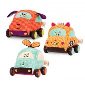 Squeak, rattle and roll Pull-back vehicles