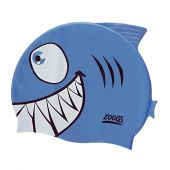 Zoggs Junior Character Cap Blue Jaws