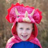 Great Pretenders Triceratops Hooded Cape 4-6