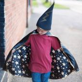 Great Pretenders Rev Wizard Cape/Hat Black 4-6