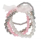 Great Pretenders Pearly to Wed Bracelet Set - 4 pcs