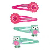 Great Pretenders Fl-owl R Power Hairclip - 4pcs