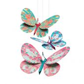 Djeco Little Big Room Lightweights to hang Lightweight to hang - Butterflies Glitter