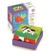 Djeco Educational wooden games Coloured farm 'Meuh and co'