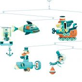 Djeco Little Big Room Enchanting mobiles Mobile - Les sous-marins - FSC MIX