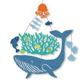 Djeco Little Big Room Enchanting mobiles Mini-mobile - Whale under the water - FSC MIX