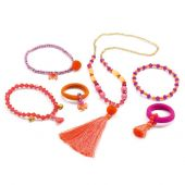Djeco Charms Jewels pompoms and ribbons