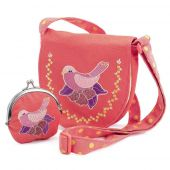 Djeco Role play - Charms Embroidered bird bag and purse
