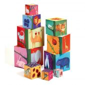 Djeco Cubes for infants 10 nature and animal blocks