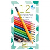 Djeco The colours 12 watercolour crayons - classic