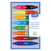 Djeco The colours 8 twins crayons