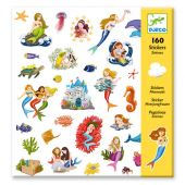 Djeco Small gift - Stickers Mermaids