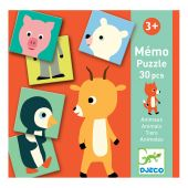 Djeco Educational games Memo Animo-puzzle