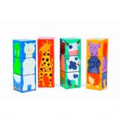 Djeco Educational games 12 cubes - Colour animals