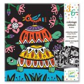 Djeco Design By 3 to 6 years - Small gift Velvet colouring - Creepy crawlies