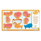 Djeco 3 to 6 years - Modelling 6 cookie cutters and 6 stamps wild animals
