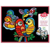 Djeco Small gift for little ones - Coloring velvet Baby birds