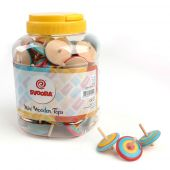 Svoora Mini Wooden Top 'CLASSIC' (1 display with 100 pcs, 3 designs)