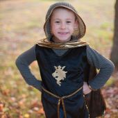 Great Pretenders Gold Knight Set (Tunic, Cape, Crown) 9-10 years