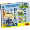 Haba 3 Puzzles with Hogwash – Police, Firemen and Co.