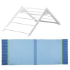 Matti for Bed (7804), Play Bed (7804+7808), Punk Bed (2x 7804+7809), Bed Frame 100 (7806) - white coating with fabric trim blue