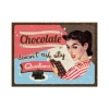 Nostalgic Μεταλλικό μαγνητάκι 'Say it 50's Chocolate Doesn't Ask'