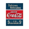 Nostalgic Μεταλλικό μαγνητάκι 'Coca-Cola - Delicious Refreshing Blue'