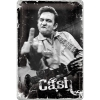 Nostalgic Μεταλλικός πίνακας 'Hollywood Johnny Cash - Finger'