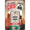Nostalgic Tin Sign 20x30cm 'Route 66 Gas Station'